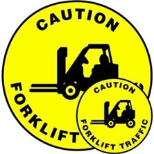 Caution Forklift Traffic Signs