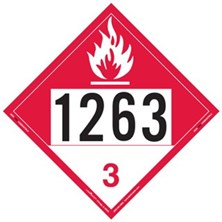 Combustible Liquid 4 Digit Placards