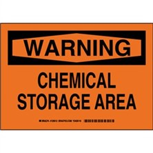 Warning - Chemical Storage Area Signs