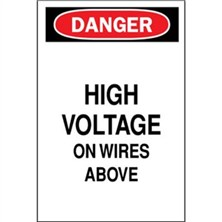 Danger, High Voltage On Wires Above