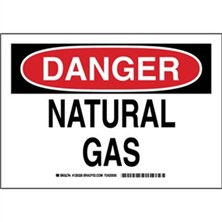 Danger - Natural Gas Signs