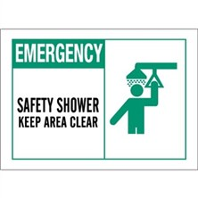 Emergency, Safety Shower Keep Area Clear