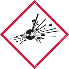 GHS Exploding Bomb Pictogram Tank Placards