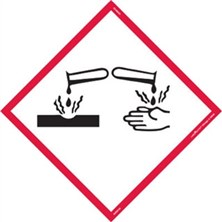 GHS Corrosion Pictogram Tank Placards