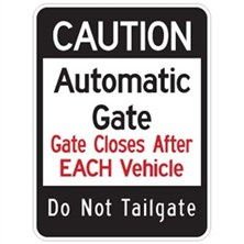 Caution Automatic Gate