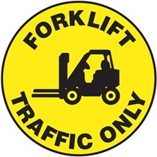 Forklift Traffic Only Signs
