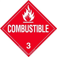 Combustible Liquid Worded Placards