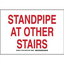 Standpipe At Other Stairs Signs