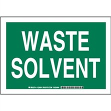 Waste Solvent Signs