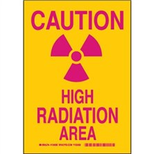 Caution High Radiation Area Signs