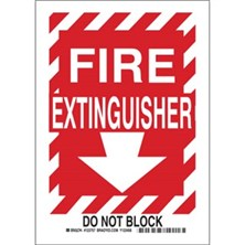 Fire Extinguisher (Red on White With Arrow And Border)