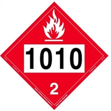 Flammable Gas 4 Digit Placards