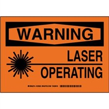 Warning - Laser Operating Signs