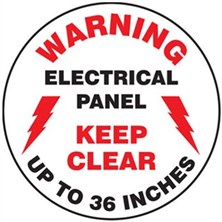 Warning Electrical Panel Keep Clear Up To 36 Inches Signs