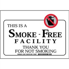 This Is A Smoke Free Facility Thank You For Not Smoking Signs