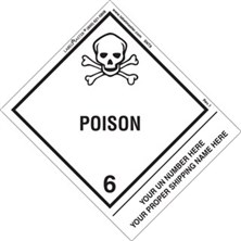 Personalized Shipping Name Poison Labels