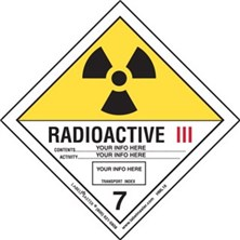 Personalized Shipping Name Radioactive III Labels