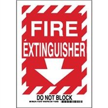 Fire Extinguisher Do Not Block Signs
