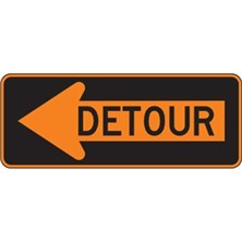 Left Detour With Arrow
