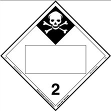 Inhalation Hazard Blank Placards