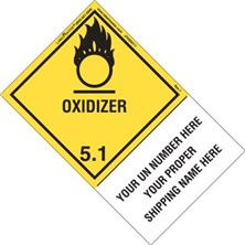 Personalized Shipping Name Oxidizer Labels
