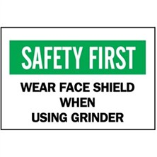 Safety First, Wear Face Shield When Using Grinder
