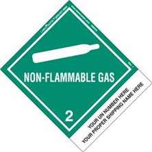 Personalized Shipping Name Non-Flammable Gas Labels