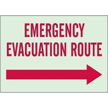 Emergency Evacuation Route (Right Arrow)