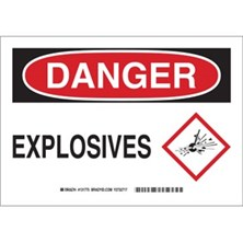 Danger - Explosives (With  Ghs Picto) Signs