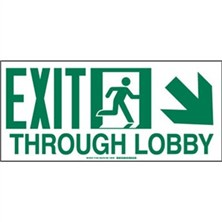 Exit Through Lobby Signs