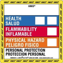Hazcom Bilingual (HMIS) Labels