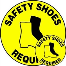 Safety Shoes Required Signs