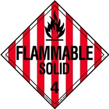 Flammable Solid Worded Placards