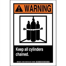 Warning - Keep All Cylinders Chained Signs