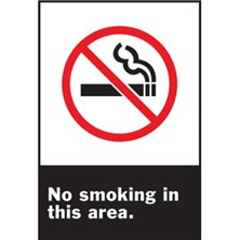 No Smoking In This Area (With Picto)