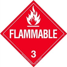 Flammable Liquid Worded Placards