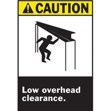 Caution - Low Overhead Clearance (With Picto) Signs