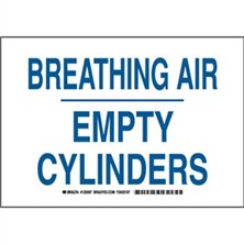Breathing Air Empty Cylinders Signs