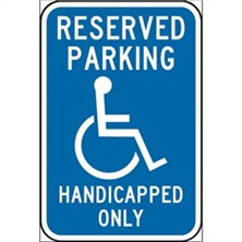 Reserved Parking Handicap Only
