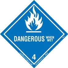 Worded Dangerous When Wet Labels