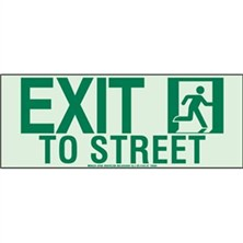 Exit To Street Signs