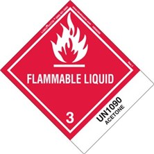 Blank And Pre-Printed Shipping Name Flammable Liquid Labels