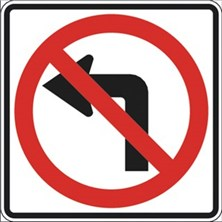 No Left Turn Symbol