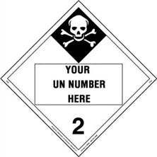 Personalized Inhalation Hazard 2 Placards