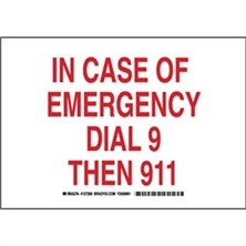 In Case Of Emergency Dial 9 Then 911 Signs