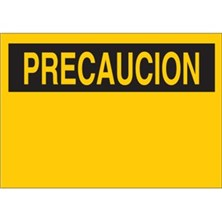 Blank Preprinted Header And Blank Panel - Precaucion - Blank Signs