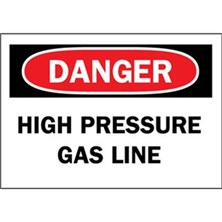 Danger, High Pressure Gas Line