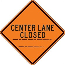 Center Lane Closed