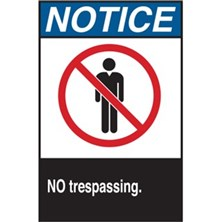 Notice, No Trespassing (With Picto, Aluminum)
