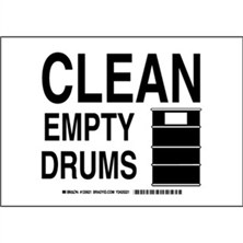 Clean Empty Drums Signs